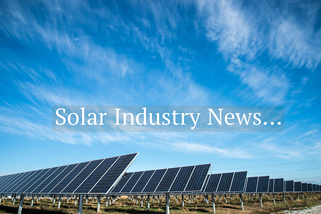 Solar Installers Newsletter 30th August 2018