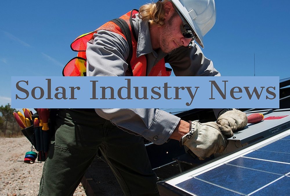 Solar Installers Newsletter 30th October 2018